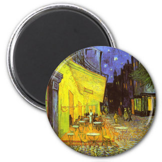 Van Gogh: Cafe Terrace at Night 2 Inch Round Magnet