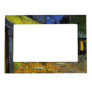 Van Gogh; Cafe Terrace at Night Photo Frame Magnets