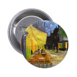 Van Gogh Cafe Terrace at Night Pinback Buttons