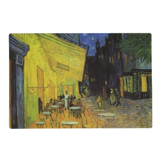 Van Gogh; Cafe Terrace at Night Placemat at Zazzle
