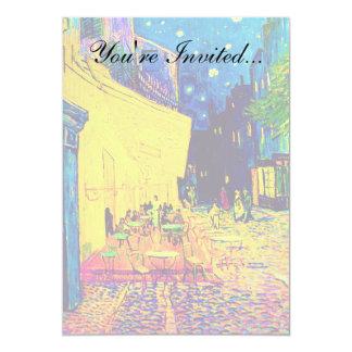 Van Gogh - Cafe Terrace At Night Pop Art Card