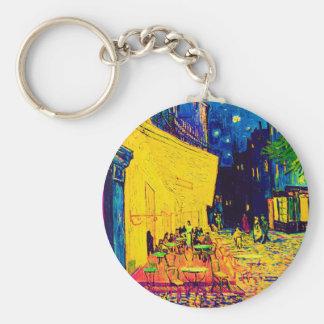 Van Gogh - Cafe Terrace At Night Pop Art Key Chain