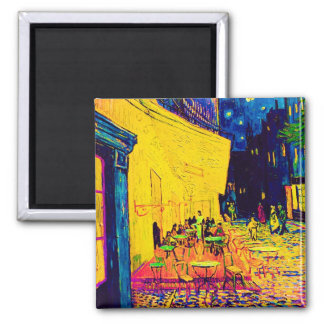 Van Gogh - Cafe Terrace At Night Pop Art 2 Inch Square Magnet
