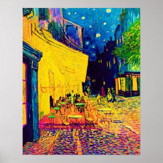 Van Gogh - Cafe Terrace At Night Pop Art Poster