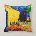 Van Gogh - Cafe Terrace At Night Pop Art Throw Pillows