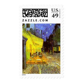 Van Gogh: Cafe Terrace at Night Stamp