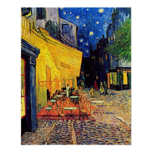 Van Gogh Cafe Terrace At Night Poster