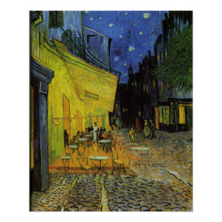 Van Gogh; Cafe Terrace at Night Poster