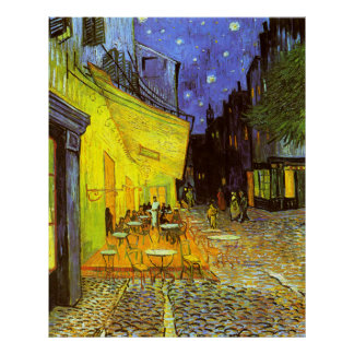 Van Gogh: Cafe Terrace at Night Posters