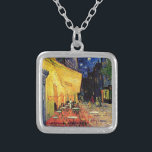 """Van Gogh Cafe Terrace At Night Silver Plated Necklace<br><div class=""""desc"""">Van Gogh Cafe Terrace At Night</div>"""