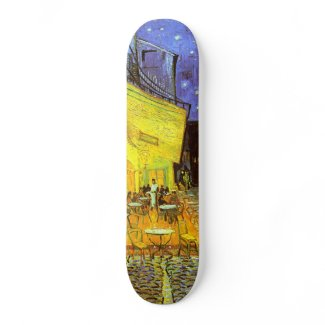 Van Gogh: Cafe Terrace at Night skateboard
