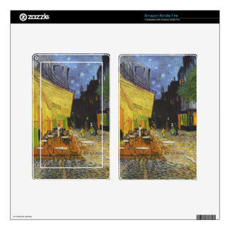 Van Gogh Cafe Terrace at Night Skin- iPad, Kindle Decal For Kindle Fire