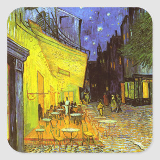 Van Gogh: Cafe Terrace at Night Square Sticker