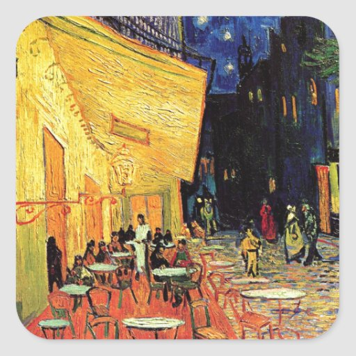Van Gogh Cafe Terrace At Night Stickers