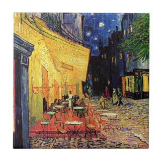 Van Gogh Cafe Terrace At Night Tile