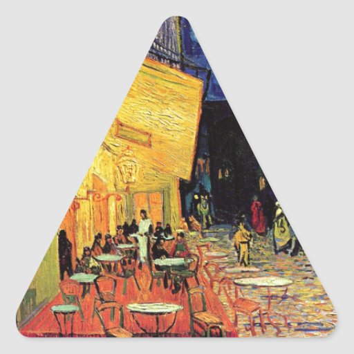 Van Gogh Cafe Terrace At Night Triangle Sticker