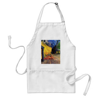 Van Gogh, Cafe Terrace at Night, Vintage Fine Art Aprons