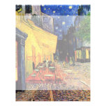 Van Gogh, Cafe Terrace at Night, Vintage Fine Art Flyers
