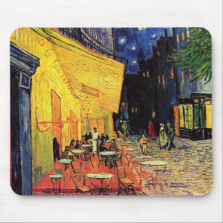 Van Gogh, Cafe Terrace at Night, Vintage Fine Art Mousepads