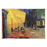 Van Gogh; Cafe Terrace at Night, Vintage Fine Art Place Mats
