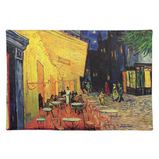 Van Gogh; Cafe Terrace at Night, Vintage Fine Art Place Mats