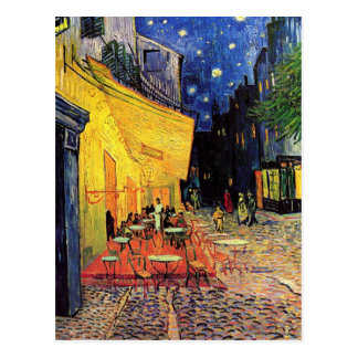 Van Gogh Cafe Terrace at Night Vintage Fine Art Post Card