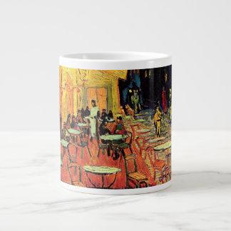 Van Gogh; Cafe Terrace at Night, Vintage Fine Art Jumbo Mug