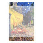 Van Gogh; Cafe Terrace at Night, Vintage Fine Art Personalized Stationery