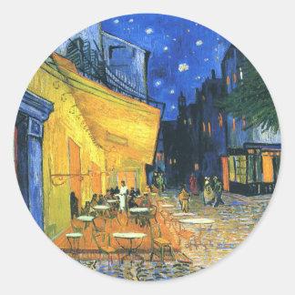 Van Gogh Cafe Terrace Classic Round Sticker
