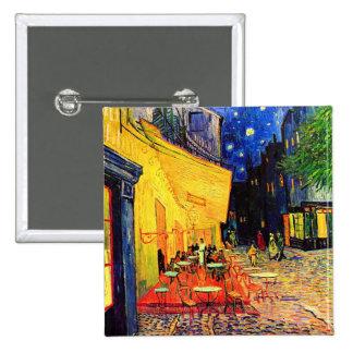Van Gogh Cafe Terrace (F467) Vintage Fine Art 2 Inch Square Button