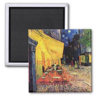 Van Gogh Cafe Terrace (F467) Vintage Fine Art 2 Inch Square Magnet