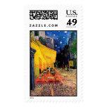 Van Gogh Cafe Terrace (F467) Vintage Fine Art Stamps