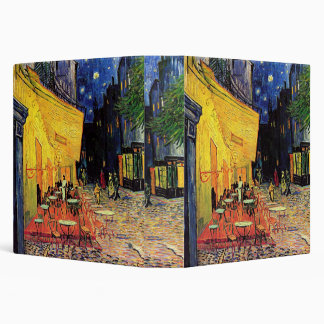 Van Gogh Cafe Terrace on Place du Forum, Fine Art 3 Ring Binder