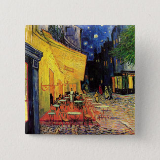 Van Gogh Cafe Terrace on Place du Forum, Fine Art Button