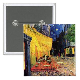 Van Gogh Cafe Terrace on Place du Forum, Fine Art Button