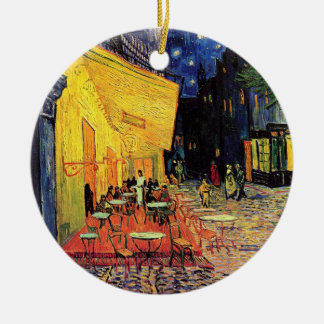 Van Gogh Cafe Terrace on Place du Forum, Fine Art Ceramic Ornament