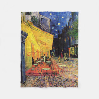 Van Gogh Cafe Terrace on Place du Forum, Fine Art Fleece Blanket