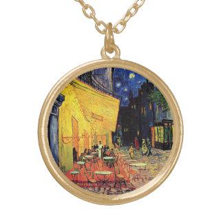 Van Gogh Cafe Terrace on Place du Forum, Fine Art Gold Plated Necklace