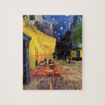 """Van Gogh Cafe Terrace on Place du Forum, Fine Art Jigsaw Puzzle<br><div class=""""desc"""">Cafe Terrace on the Place du Forum by Vincent van Gogh is a vintage fine art post impressionism architectural cityscape painting. An exterior view of a restaurant with tables, chairs, waiters, and people dining. A beautiful night with stars in the sky in Arles, France. About the artist: Vincent Willem van...</div>"""