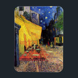 """Van Gogh Cafe Terrace on Place du Forum, Fine Art Magnet<br><div class=""""desc"""">Cafe Terrace on the Place du Forum by Vincent van Gogh is a vintage fine art post impressionism architectural cityscape painting. An exterior view of a restaurant with tables, chairs, waiters, and people dining. A beautiful night with stars in the sky in Arles, France. About the artist: Vincent Willem van...</div>"""