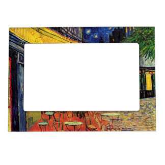 Van Gogh Cafe Terrace on Place du Forum, Fine Art Magnetic Frame