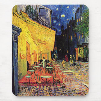 Van Gogh Cafe Terrace on Place du Forum, Fine Art Mouse Pad