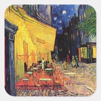 Van Gogh Cafe Terrace on Place du Forum, Fine Art Square Sticker