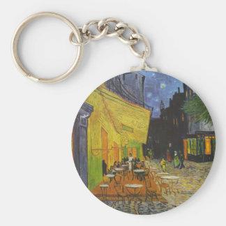 Van Gogh Cafe Terrace Post-Impressionist Basic Round Button Keychain