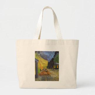 Van Gogh Cafe Terrace Post-Impressionist Large Tote Bag