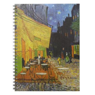 Van Gogh Cafe Terrace Post-Impressionist Spiral Notebook
