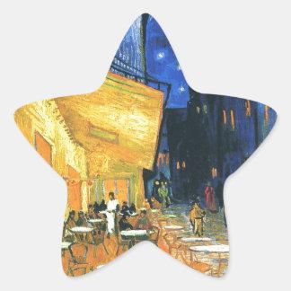 Van Gogh Cafe Terrace Star Sticker