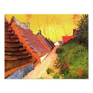 Van Gogh; Calle en Saintes Maries Invitación 10,8 X 13,9 Cm