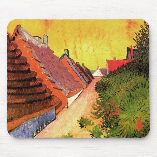 Van Gogh; Calle en Saintes Maries Tapete De Ratón