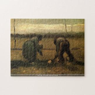 Van Gogh - campesinos que plantan rompecabezas de